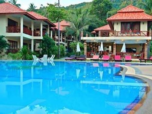 Pool der Unterkunft auf Koh Phangan